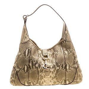Gucci Bags - Gucci Jackie O Bouvier Python Hobo Bag